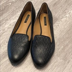 Very good used Rachel Zoe Black flat shoes 9.5